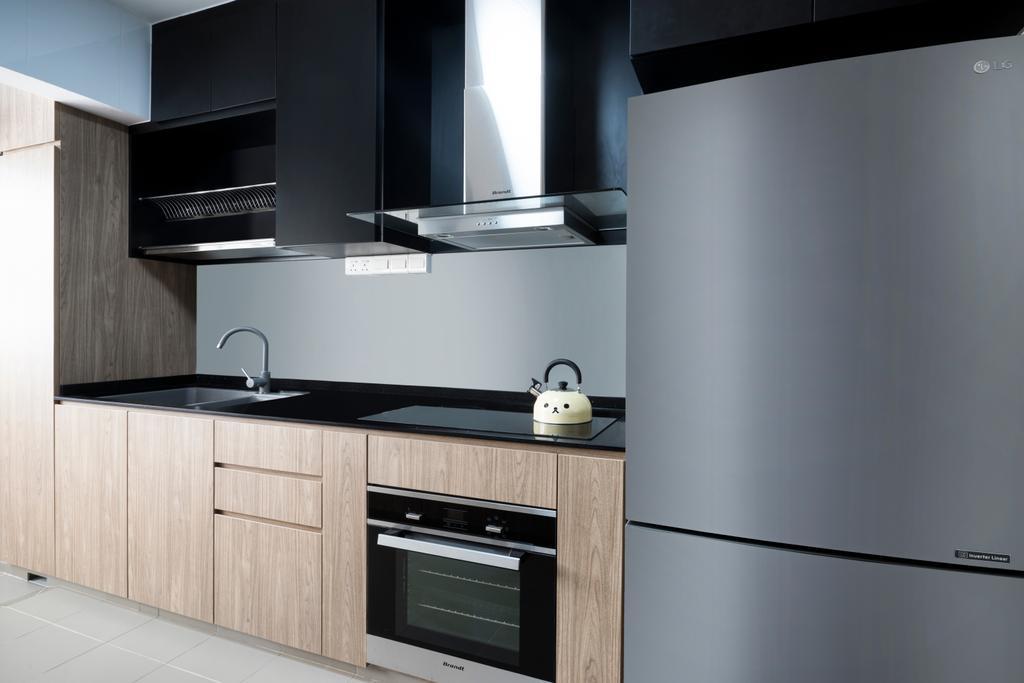 Scandinavian, HDB, Kitchen, Edgefield Plains (Block 669B), Interior Designer, Cozy Ideas Interior Design, Appliance, Electrical Device, Oven, Indoors, Interior Design, Room