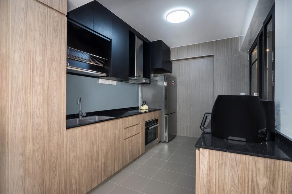Scandinavian, HDB, Kitchen, Edgefield Plains (Block 669B), Interior Designer, Cozy Ideas Interior Design, Indoors, Interior Design, Closet, Furniture, Wardrobe
