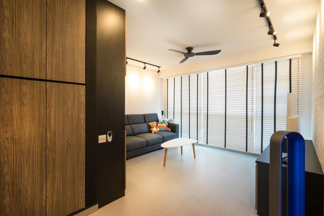 Edgefield Plains (Block 669B), Cozy Ideas Interior Design, Scandinavian, Living Room, HDB, Mailbox, Door, Sliding Door