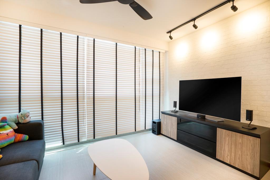 Scandinavian, HDB, Living Room, Edgefield Plains (Block 669B), Interior Designer, Cozy Ideas Interior Design, Couch, Furniture, Indoors, Interior Design