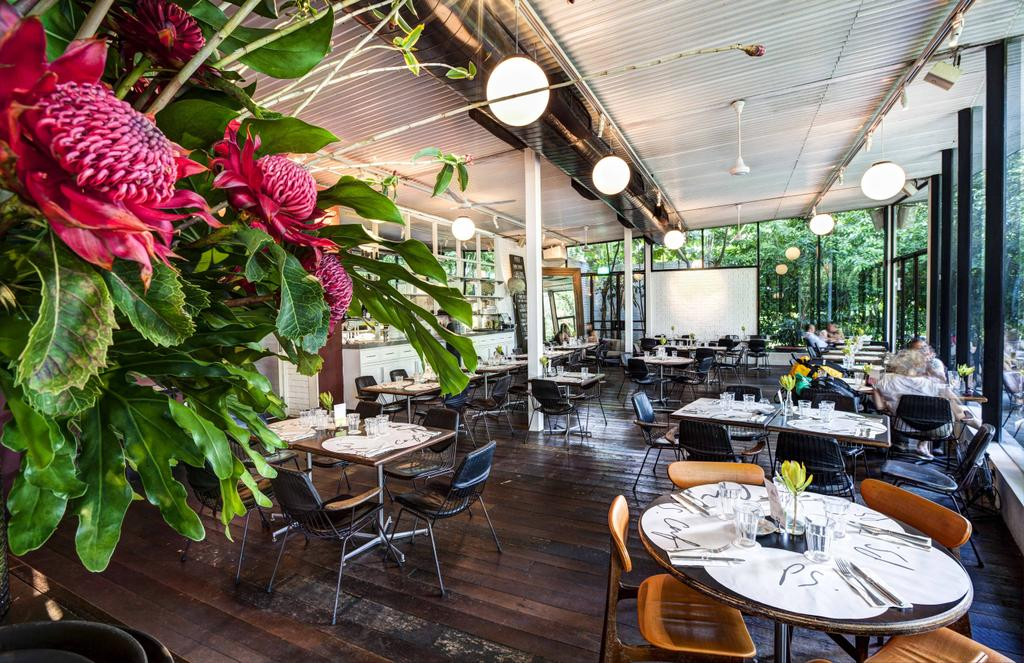 PS Cafe Dempsey, Commercial, Architect, Aamer Architects, Modern, Wooden Flooring, Parquet, Wooden Chairs, Wooden Chair, Cafe, Hanging Light, Sphere Lighting, Flora, Jar, Plant, Potted Plant, Pottery, Vase, Restaurant, Chair, Furniture, Dining Table, Table