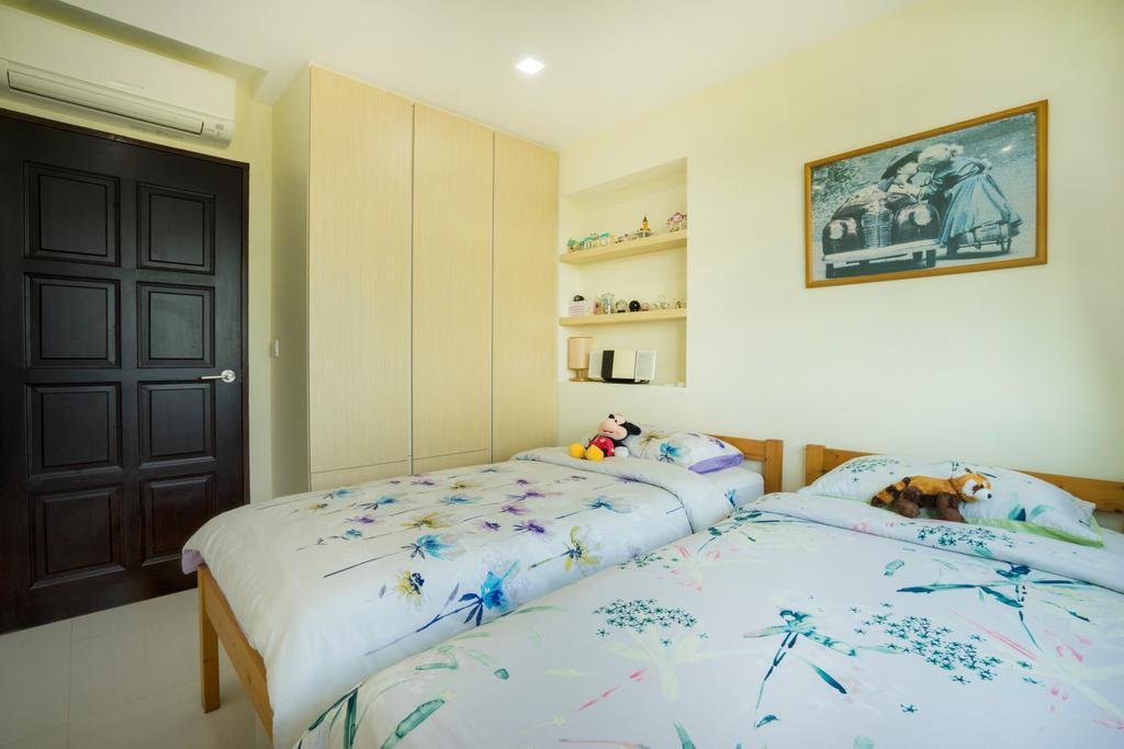 Traditional, HDB, Bedroom, Keat Hong (Block 802A), Interior Designer, Cozy Ideas Interior Design, Bed, Furniture, Indoors, Interior Design, Room, Art, Painting