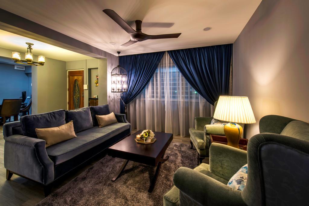 Eclectic, HDB, Living Room, Tampines Street 43 (Block 494C), Interior Designer, IdeasXchange, Couch, Furniture, Indoors, Room, Chair