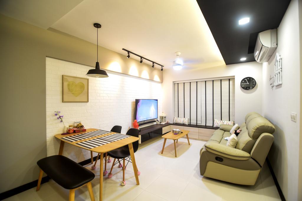 Scandinavian, HDB, Living Room, Dawson Road Skyville (Block 86), Interior Designer, IdeasXchange, Chair, Furniture, Lighting, Indoors, Room