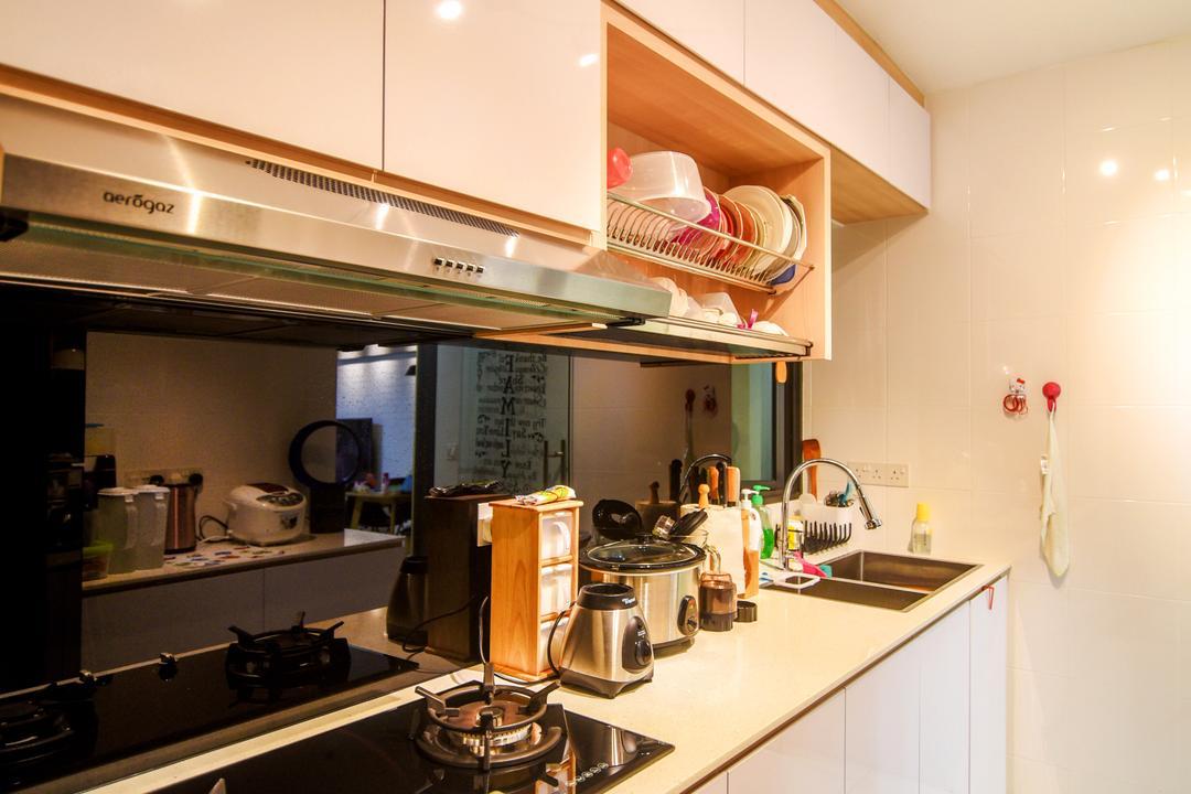 Dawson Road Skyville (Block 86), IdeasXchange, Scandinavian, Kitchen, HDB, Plate Rack, Appliance, Electrical Device, Oven, Indoors, Interior Design