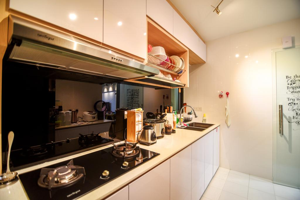 Scandinavian, HDB, Kitchen, Dawson Road Skyville (Block 86), Interior Designer, IdeasXchange, Appliance, Electrical Device, Oven, Indoors, Interior Design