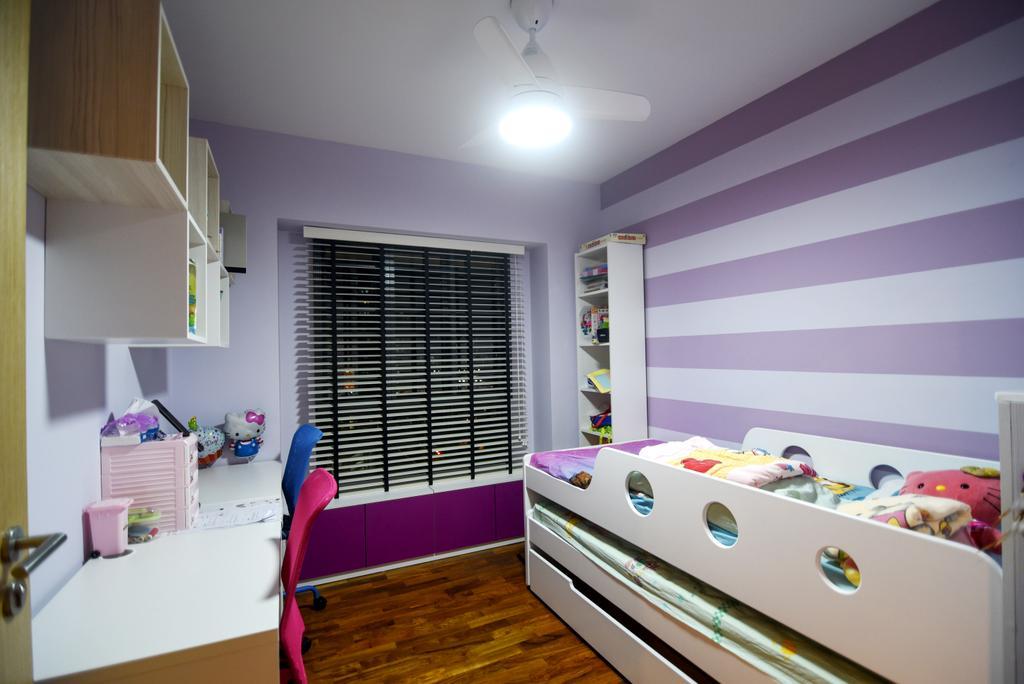 Scandinavian, HDB, Bedroom, Dawson Road Skyville (Block 86), Interior Designer, IdeasXchange, Shelf, Chair, Furniture