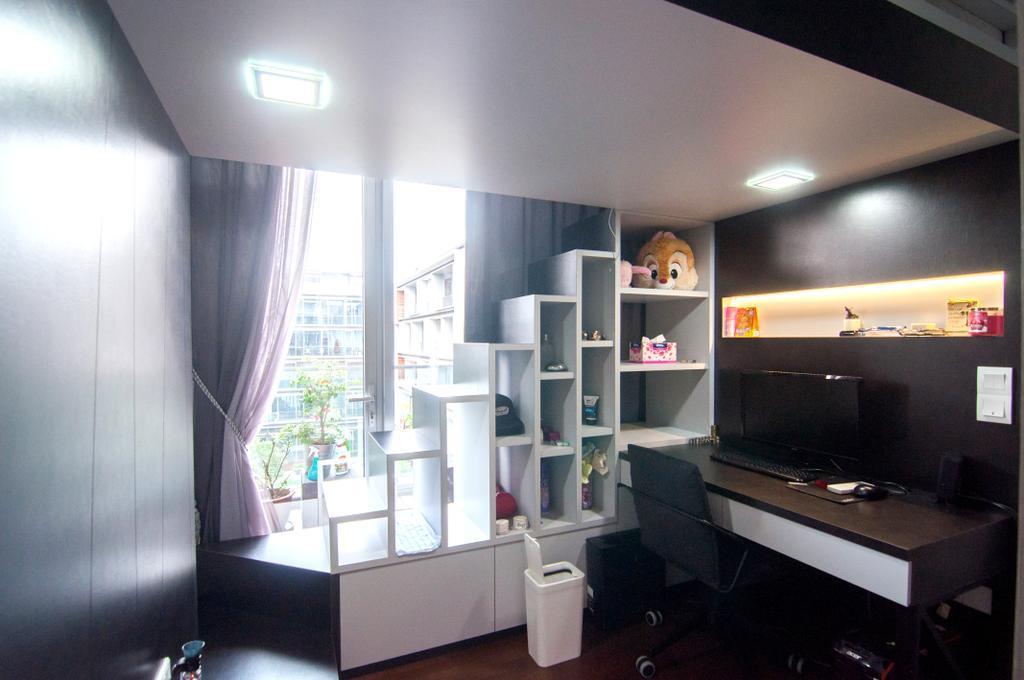 Contemporary, Condo, Study, Seletar Park Residence (Block 21), Interior Designer, IdeasXchange, HDB, Building, Housing, Indoors