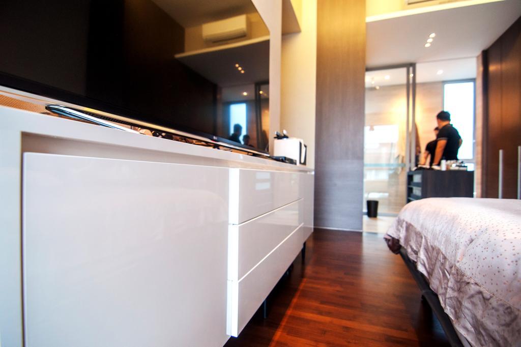 Contemporary, Condo, Bedroom, Seletar Park Residence (Block 17), Interior Designer, IdeasXchange, Bed, Furniture