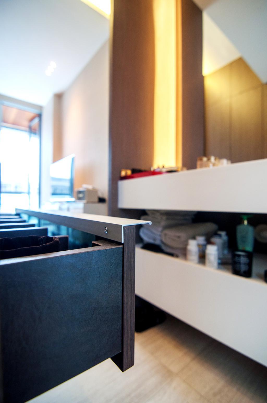 Contemporary, Condo, Bedroom, Seletar Park Residence (Block 17), Interior Designer, IdeasXchange, Desk, Furniture, Table