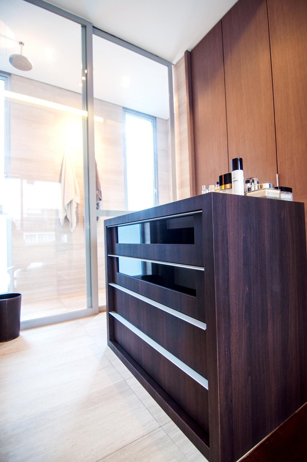 Contemporary, Condo, Bathroom, Seletar Park Residence (Block 17), Interior Designer, IdeasXchange, Furniture, Reception, Reception Desk, Table