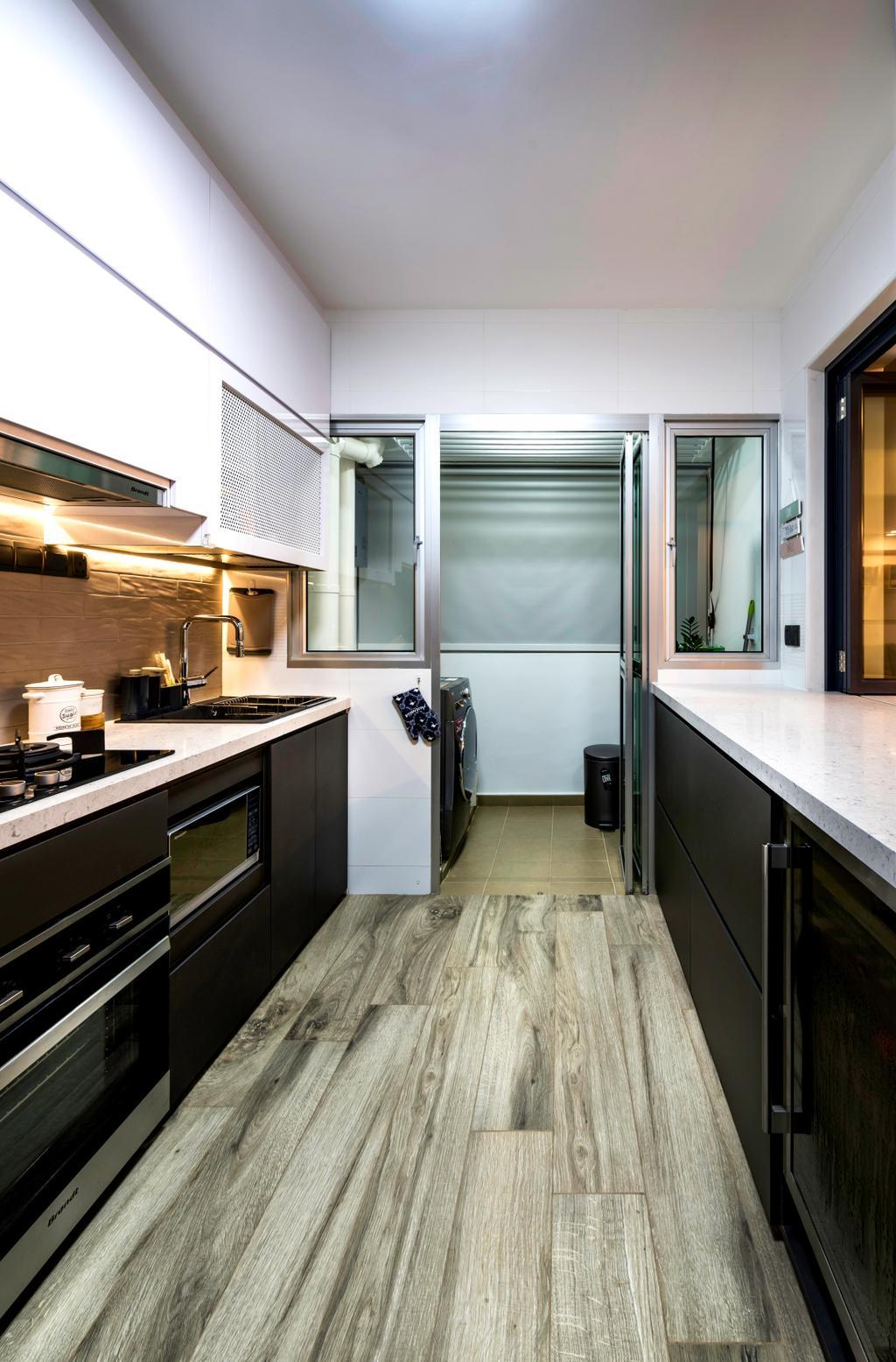 Contemporary, HDB, Kitchen, Telok Blangah Heights (Block 70C), Interior Designer, IdeasXchange, Scandinavian, Appliance, Electrical Device, Oven, Indoors, Interior Design, Room