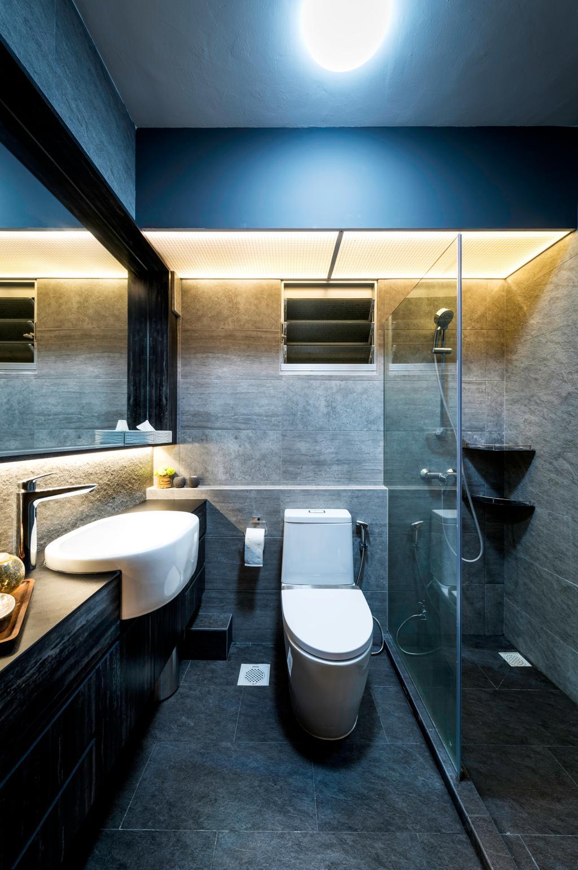 Contemporary, HDB, Bathroom, Telok Blangah Heights (Block 70C), Interior Designer, IdeasXchange, Scandinavian, Indoors, Interior Design, Room, Toilet