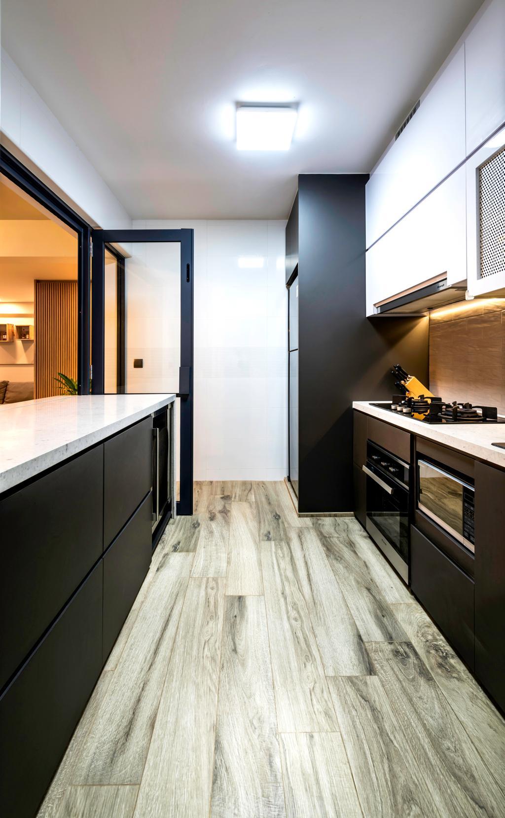 Contemporary, HDB, Kitchen, Telok Blangah Heights (Block 70C), Interior Designer, IdeasXchange, Scandinavian, Appliance, Electrical Device, Oven