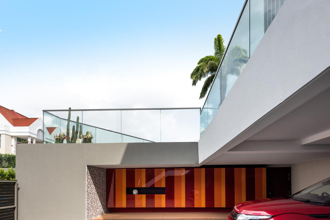 Boscombe Road Residence, IN-EXPAT, Modern, Balcony, Landed, Roof, Tile Roof, Building, House, Housing, Villa