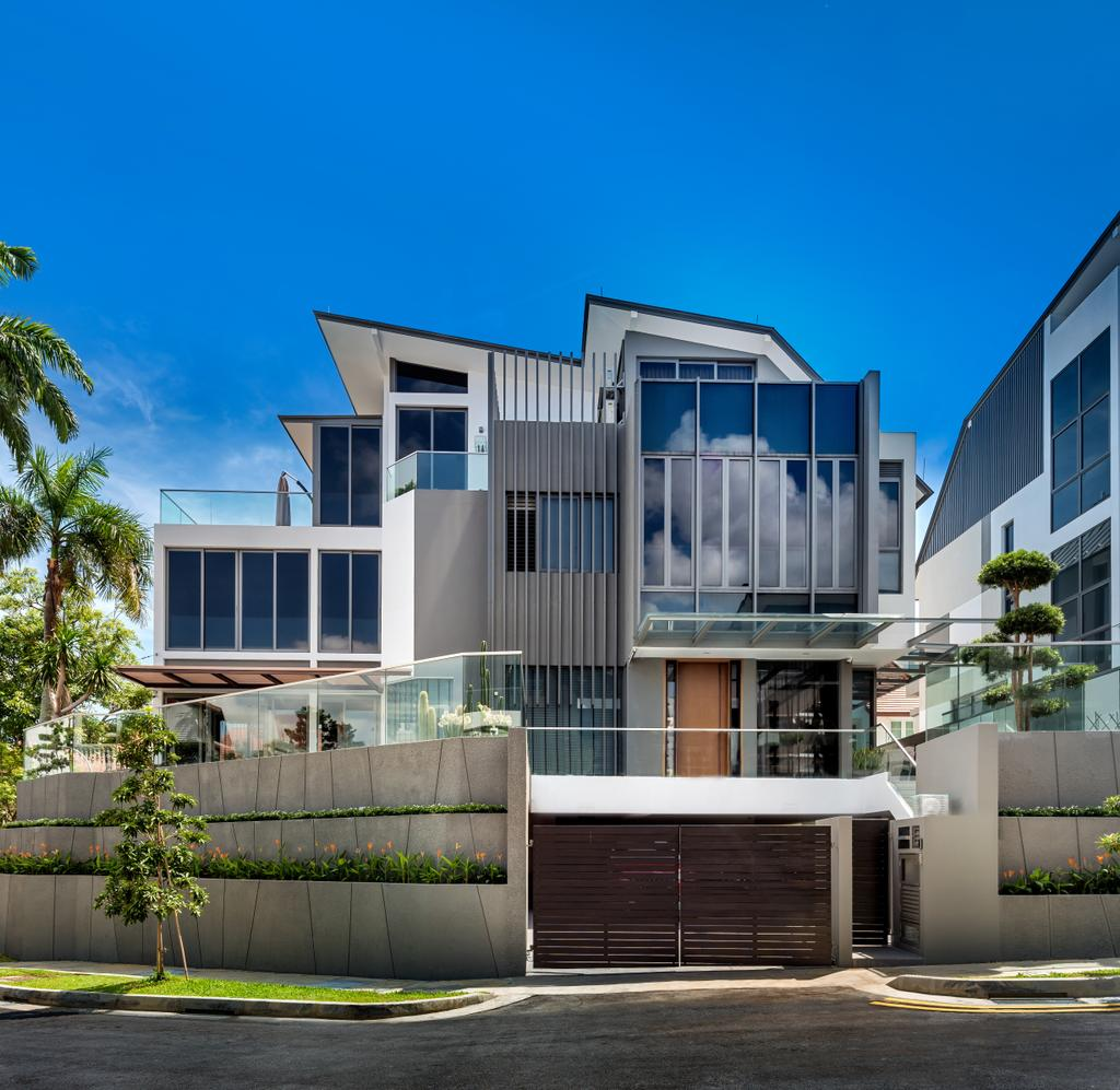 Modern, Landed, Boscombe Road Residence, Interior Designer, IN-EXPAT, Building, Housing, Balcony