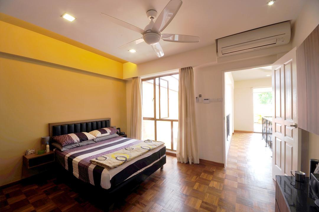 Da Silva Lane, NIJ Design Concept, Contemporary, Bedroom, Landed, Electric Fan, Human, People, Person, Bed, Furniture, Indoors, Interior Design, Room