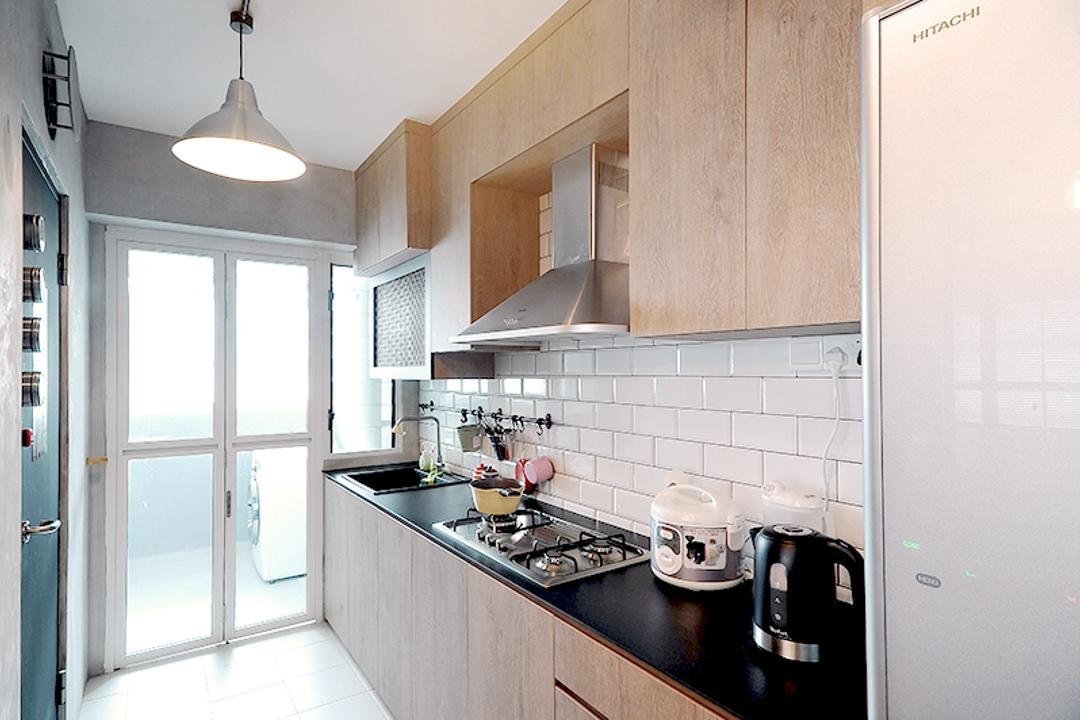 Yishun (Block 316C), NIJ Design Concept, Modern, Kitchen, HDB, Lamp, Machine, Ramp, Lighting
