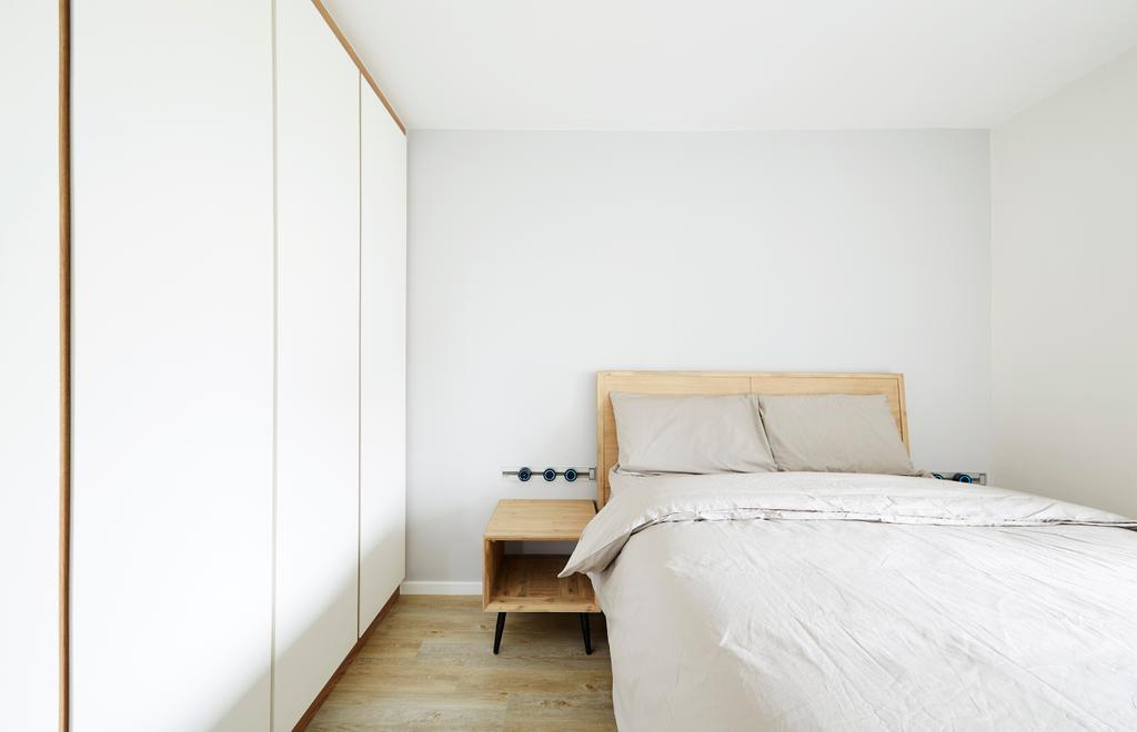 Minimalistic, HDB, Bedroom, Bishan Street 12, Interior Designer, The Local INN.terior 新家室, Home Decor, Linen, Bed, Furniture, Indoors, Interior Design, Room