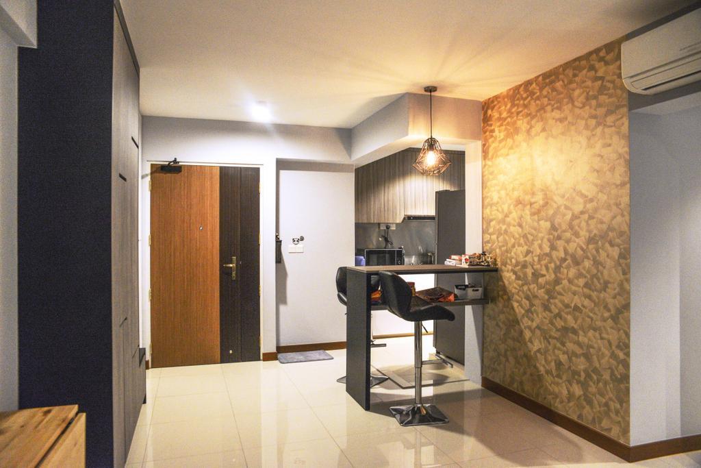 Modern, HDB, Yishun (Block 342B), Interior Designer, NIJ Design Concept, Door, Sliding Door, Building, Housing, Indoors, Interior Design