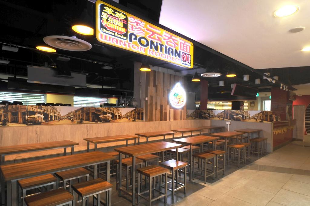 Pontian Sunplaza, Commercial, Interior Designer, NIJ Design Concept, Modern, Food, Food Court, Restaurant, Dining Table, Furniture, Table