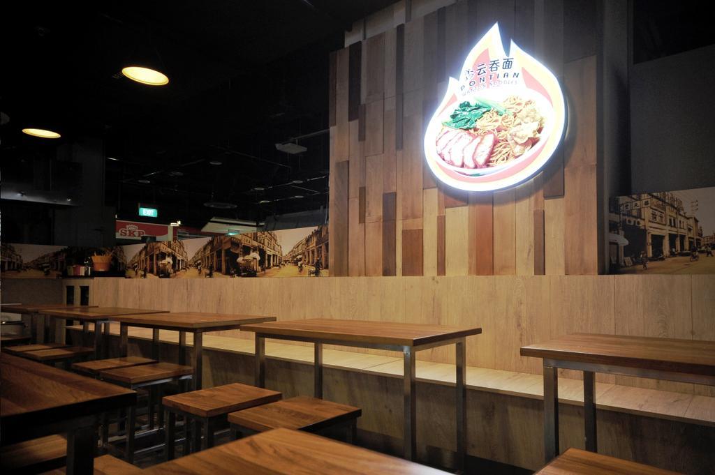 Pontian Sunplaza, Commercial, Interior Designer, NIJ Design Concept, Modern, Dining Table, Furniture, Table, Bench, Cafe, Restaurant