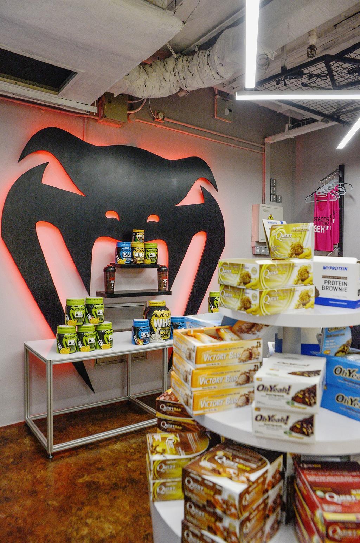 Nutrition Depot, Commercial, Interior Designer, NIJ Design Concept, Modern, Book, Aluminium, Can, Canned Goods, Food, Tin, Sink