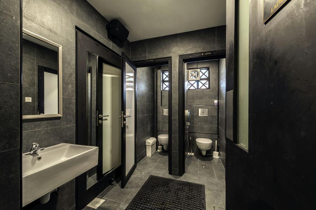 The Lions Den, Ace Space Design, Retro, Industrial, Commercial, Bathroom, Indoors, Interior Design, Room, Parking, Parking Lot