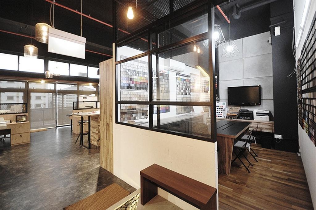 NIJ Office, Commercial, Interior Designer, NIJ Design Concept, Modern, Plywood, Wood, HDB, Building, Housing, Indoors, Loft