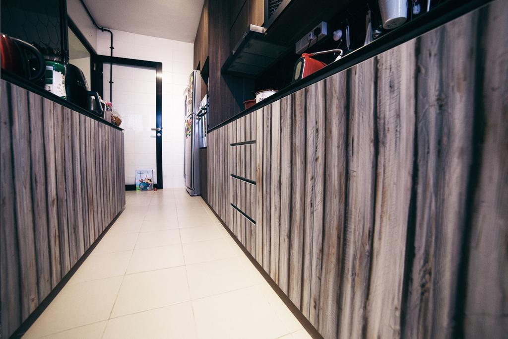Scandinavian, HDB, Kitchen, Upper Serangoon View (Block 476C), Interior Designer, NIJ Design Concept, Railing