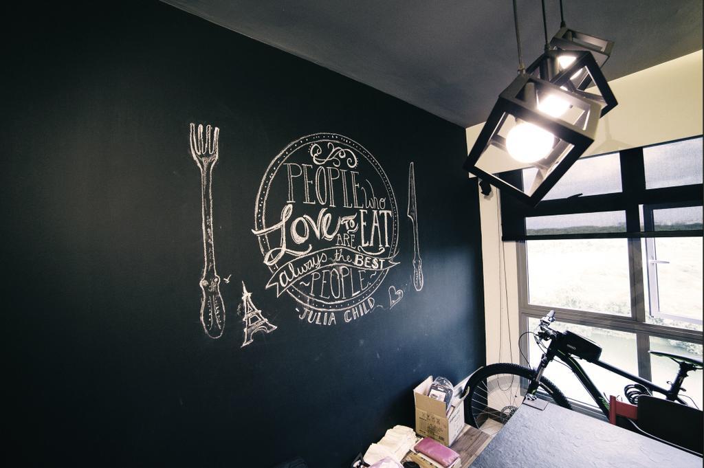 Scandinavian, HDB, Dining Room, Upper Serangoon View (Block 476C), Interior Designer, NIJ Design Concept, Lighting