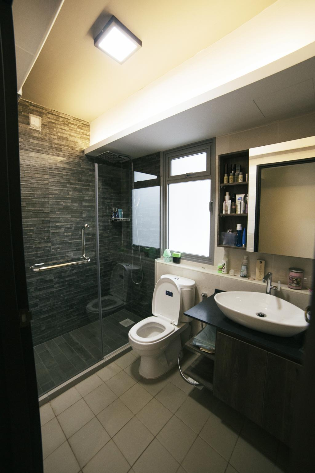 Scandinavian, HDB, Bathroom, Upper Serangoon View (Block 476C), Interior Designer, NIJ Design Concept, Toilet, Indoors, Interior Design, Room