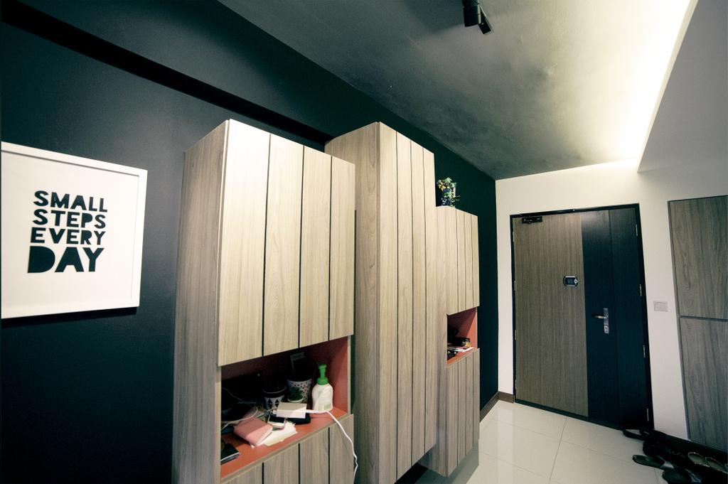 Scandinavian, HDB, Upper Serangoon View (Block 476C), Interior Designer, NIJ Design Concept, Label, Sticker, Text, Building, Housing, Indoors