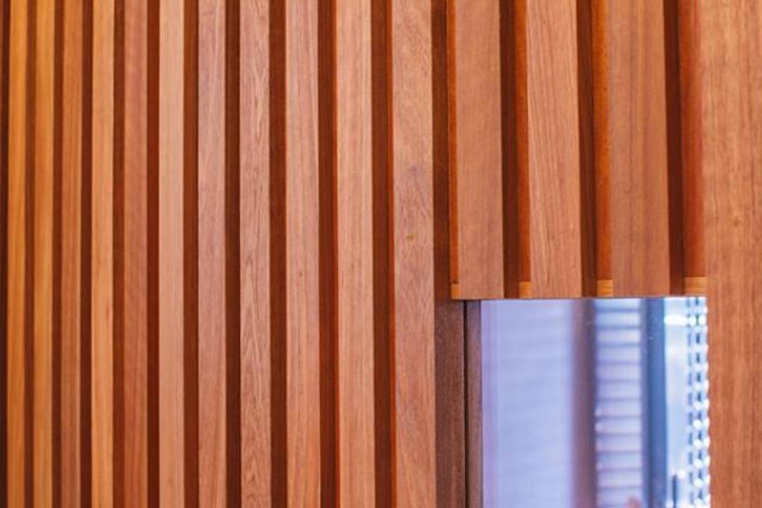 Eason House, Code Red Studio, Modern, Landed, Hardwood, Stained Wood, Wood