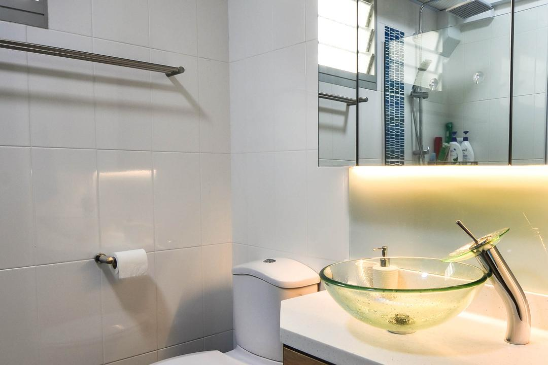 Chai Chee Road, ELPIS Interior Design, Modern, Industrial, Bathroom, HDB, Toilet, Paper, Paper Towel, Tissue, Toilet Paper, Towel