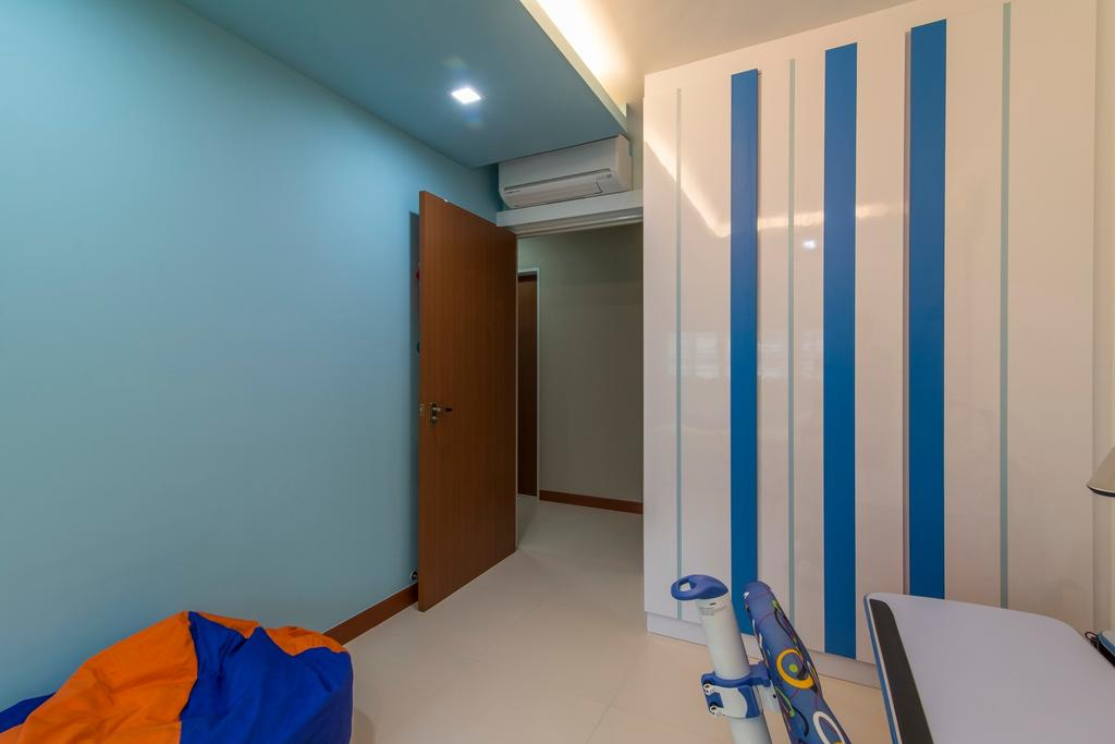Traditional, HDB, Bedroom, Yishun Avenue 1, Interior Designer, Ace Space Design, Beanbag, Bean Bag, Blue Wall, Concealed Light, Concealed Lighting, Recessed Lighting, Storage, Cupboard, False Ceiling, Recessed Light, Building, Housing, Indoors