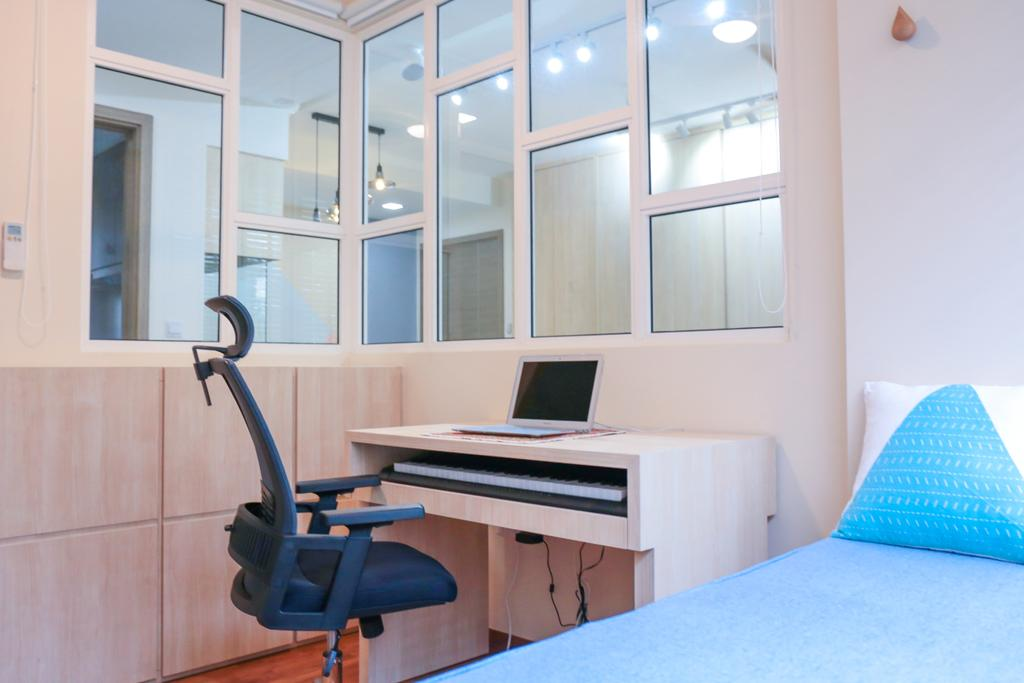 Minimalistic, HDB, Study, Pasir Ris Grove, The Palette (Block 105), Interior Designer, Forefront Interior, Bed, Furniture