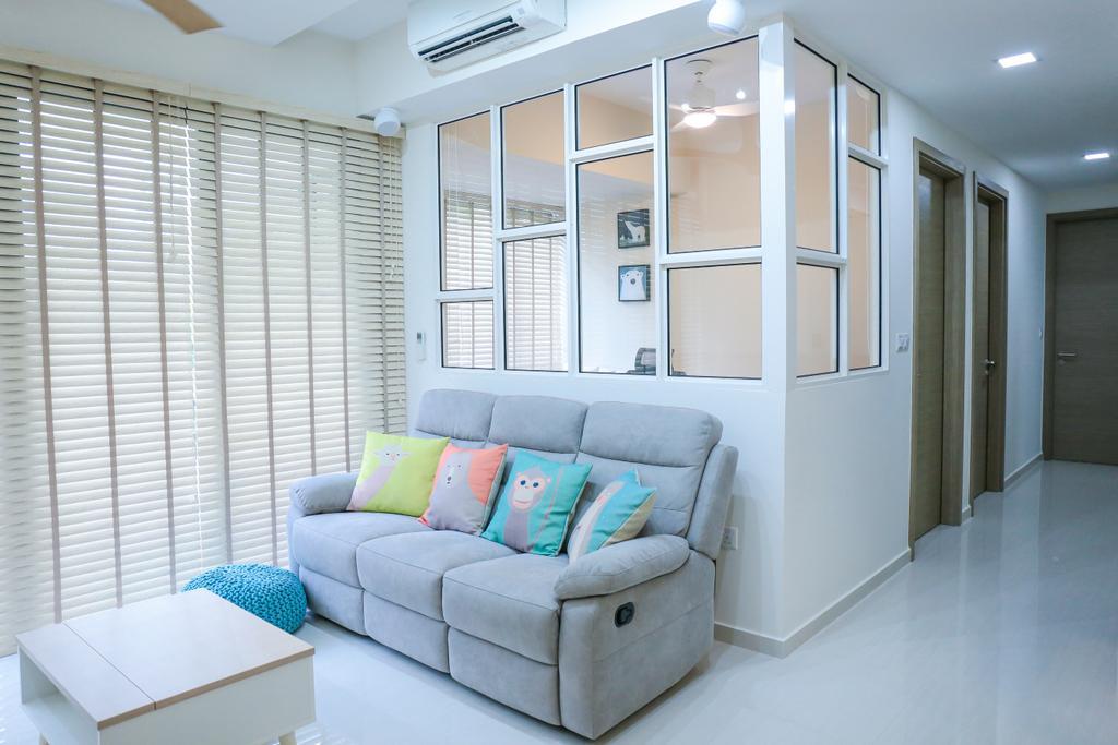 Minimalistic, HDB, Living Room, Pasir Ris Grove, The Palette (Block 105), Interior Designer, Forefront Interior, Couch, Furniture, Indoors, Interior Design