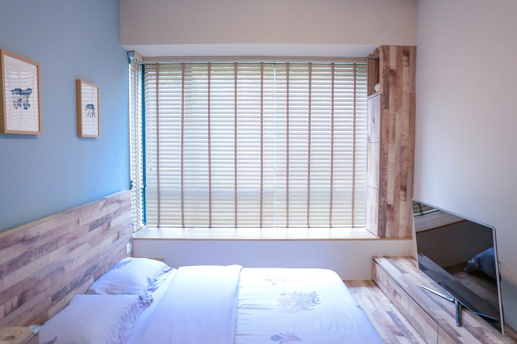 Minimalistic, HDB, Bedroom, Pasir Ris Grove, The Palette (Block 105), Interior Designer, Forefront Interior, Indoors, Interior Design, Room
