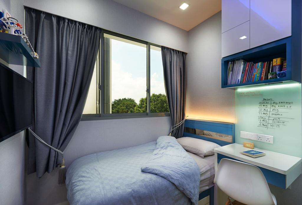 Modern, HDB, Bedroom, Skies Miltonia, Interior Designer, U-Home Interior Design, Indoors, Interior Design, Room