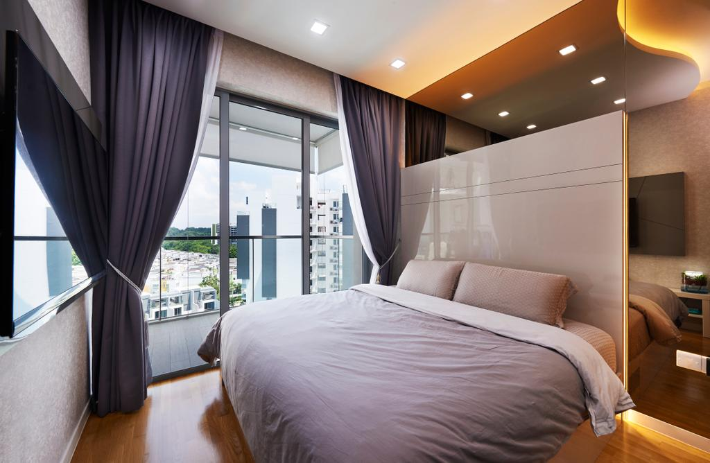 Modern, HDB, Bedroom, Skies Miltonia, Interior Designer, U-Home Interior Design, Couch, Furniture, Indoors, Interior Design, Room