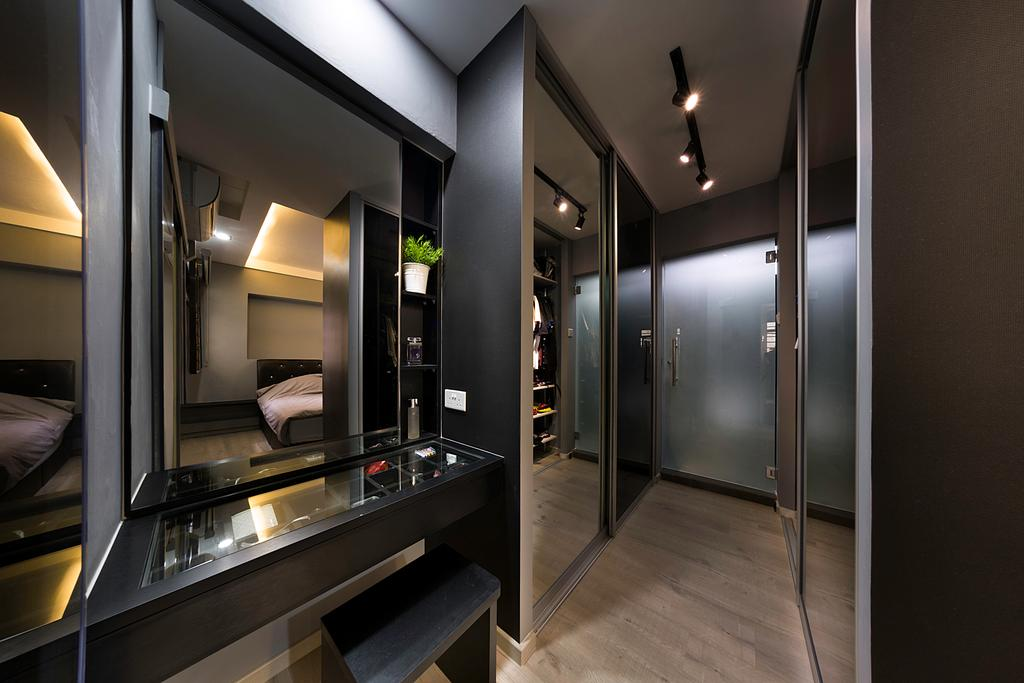 Contemporary, HDB, Bedroom, Rivervale Gateway, Interior Designer, U-Home Interior Design, Corridor