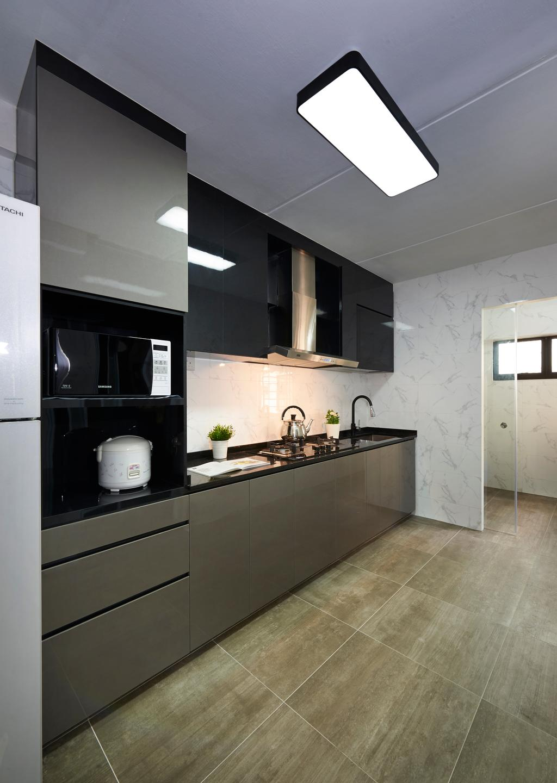 Contemporary, HDB, Kitchen, Rivervale Gateway, Interior Designer, U-Home Interior Design, Indoors, Interior Design, Room