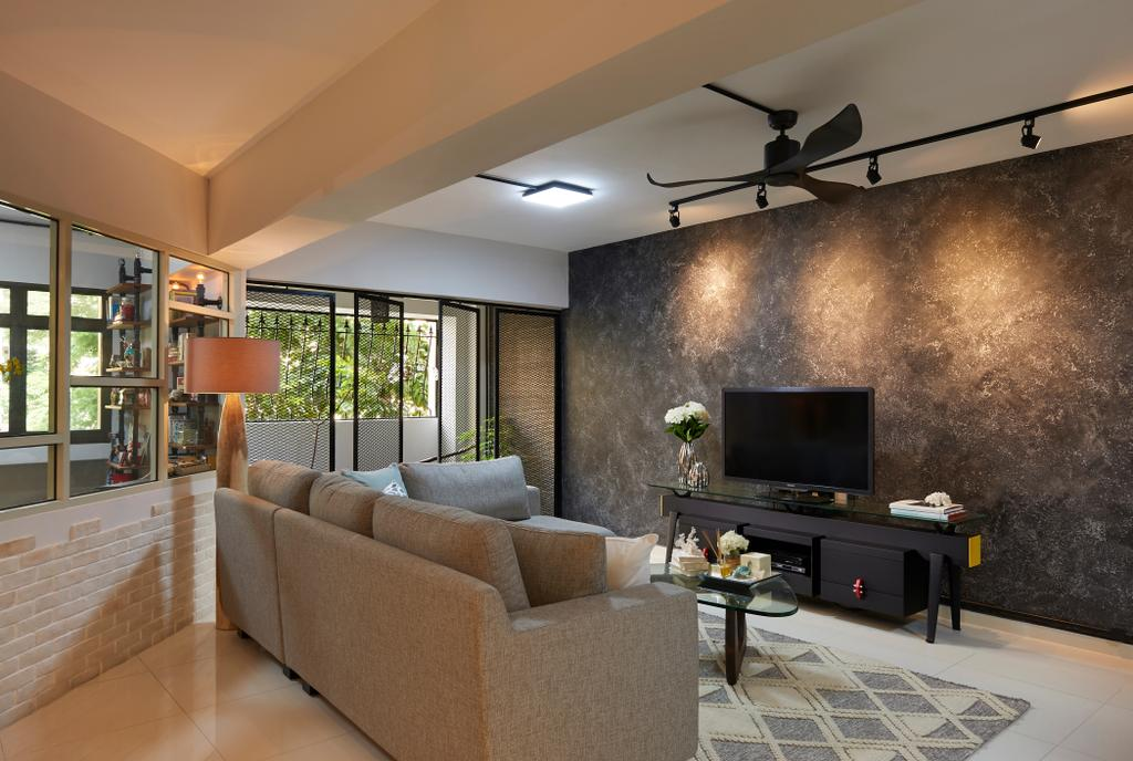Scandinavian, HDB, Living Room, Woodlands Ring Road, Interior Designer, U-Home Interior Design, Appliance, Electrical Device, Oven, Indoors, Interior Design
