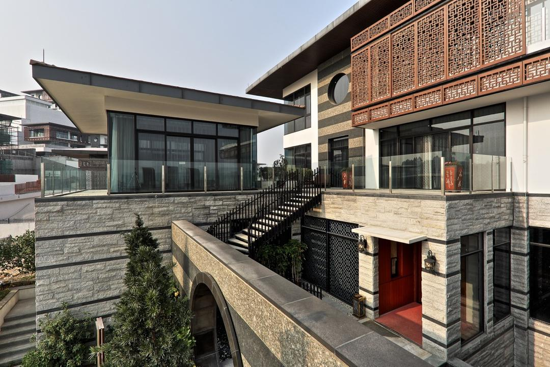 Nanhu Golf Villa, EZRA Architects, Traditional, Landed, Exterior, External View, Outside, Brick Wall, Brick
