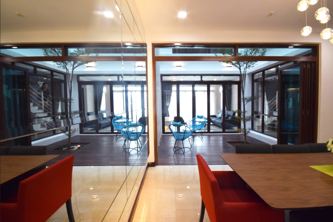 Semi D @ Kiara View, The Grid Studio, Modern, Contemporary, Landed, Door, Revolving Door, Chair, Furniture, Plywood, Wood, Dining Table, Table