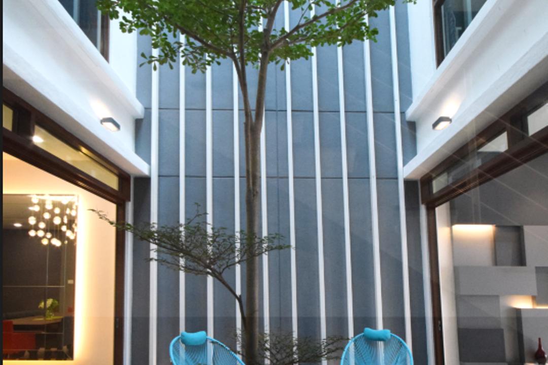 Semi D @ Kiara View, The Grid Studio, Modern, Contemporary, Landed, Bamboo, Flora, Plant, Door, Sliding Door