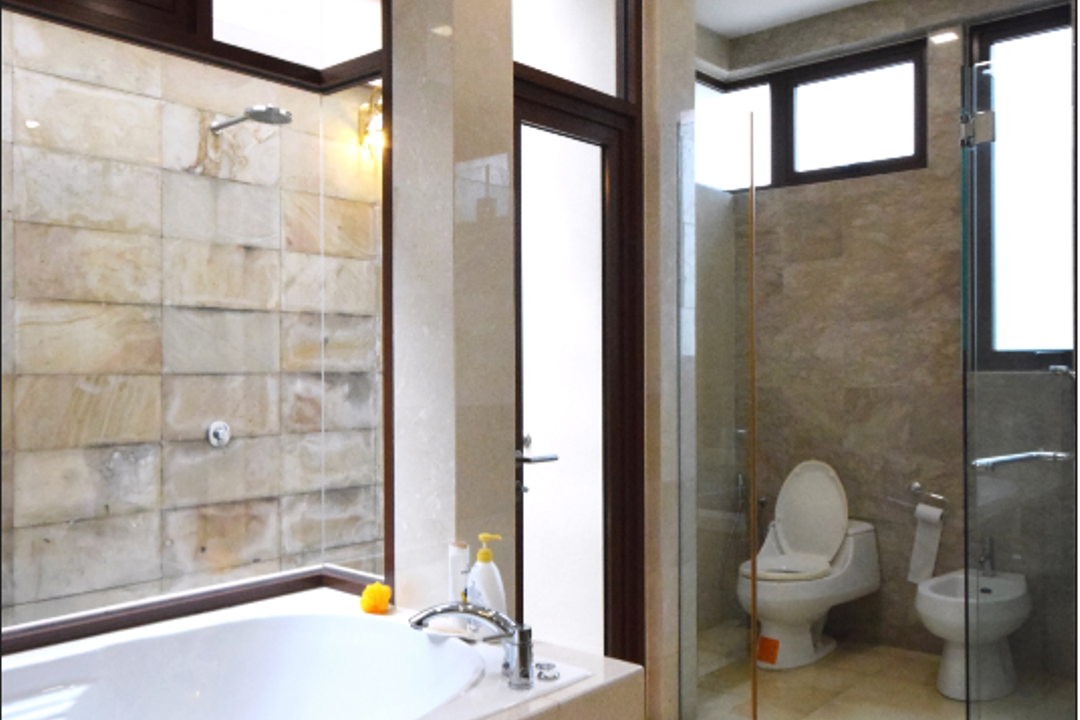 Semi D @ Kiara View, The Grid Studio, Modern, Contemporary, Landed, Toilet, Bathroom, Indoors, Interior Design, Room, Jacuzzi, Tub