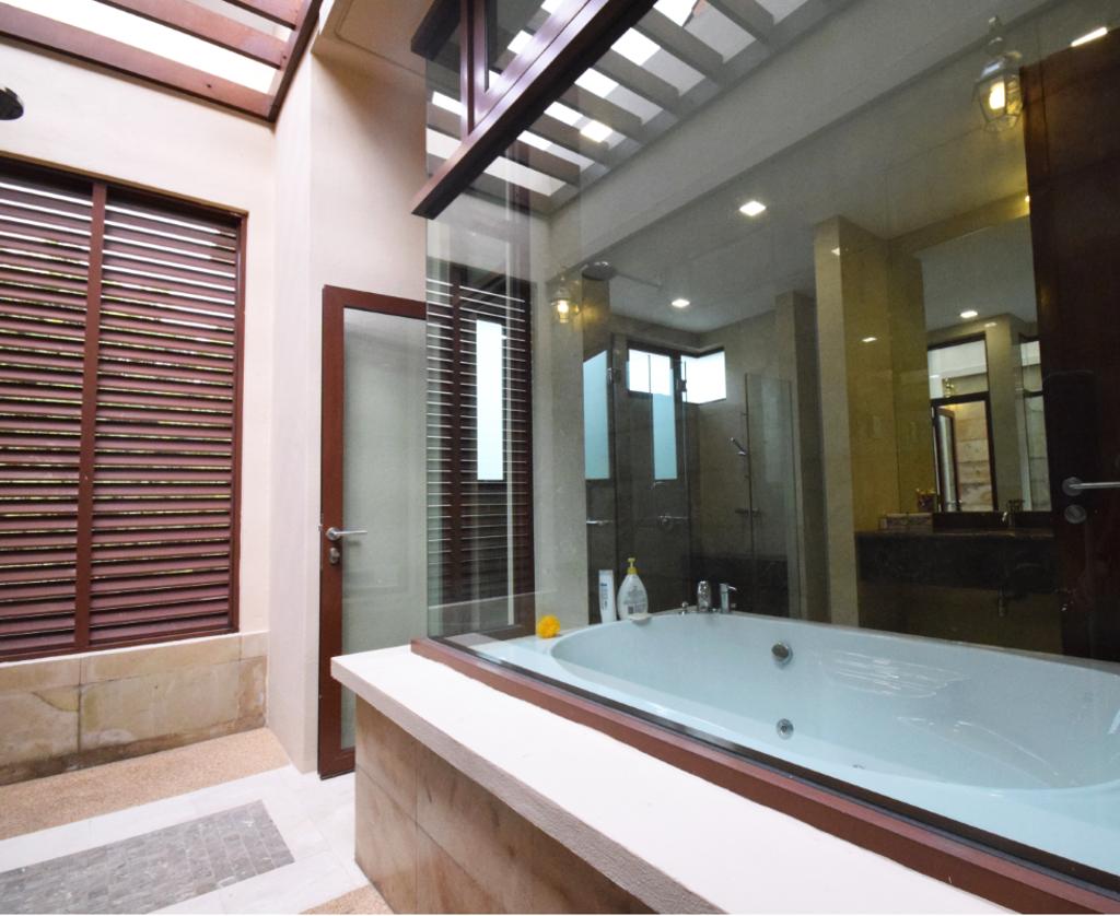 Modern, Landed, Semi D @ Kiara View, Interior Designer, The Grid Studio, Contemporary, Jacuzzi, Tub, Sink