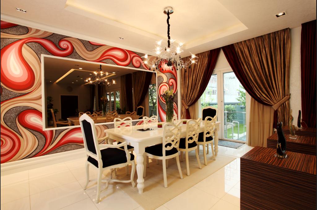 Traditional, Landed, Dining Room, Rafflesia, Interior Designer, The Grid Studio, Chair, Furniture, Indoors, Interior Design, Room, Hardwood, Wood, Dining Table, Table